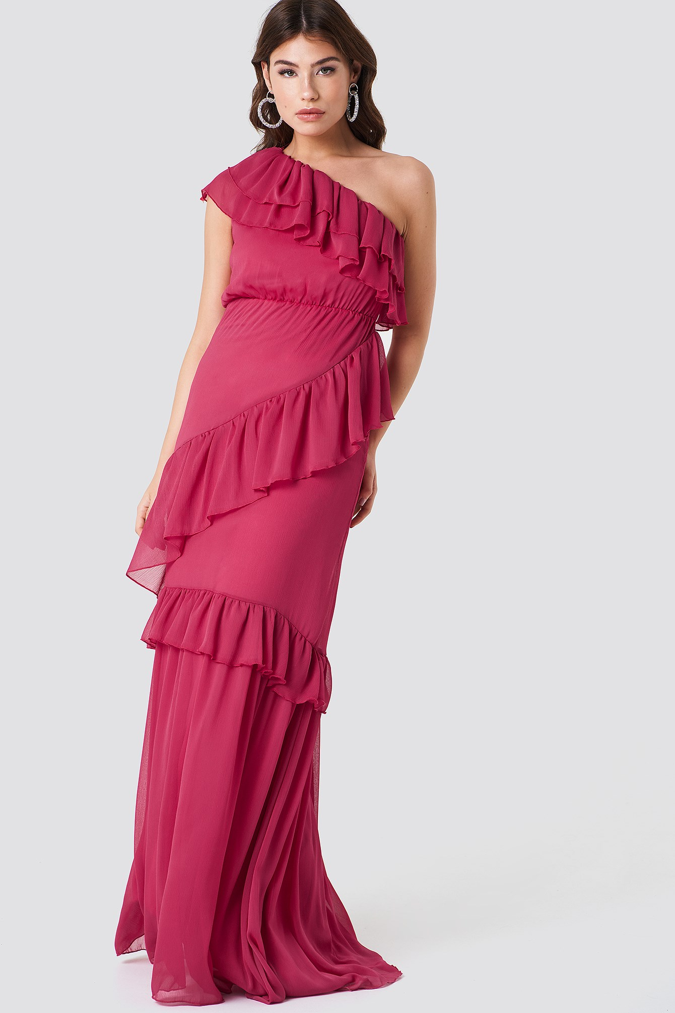 One Shoulder Maxi Dress NA-KD.COM