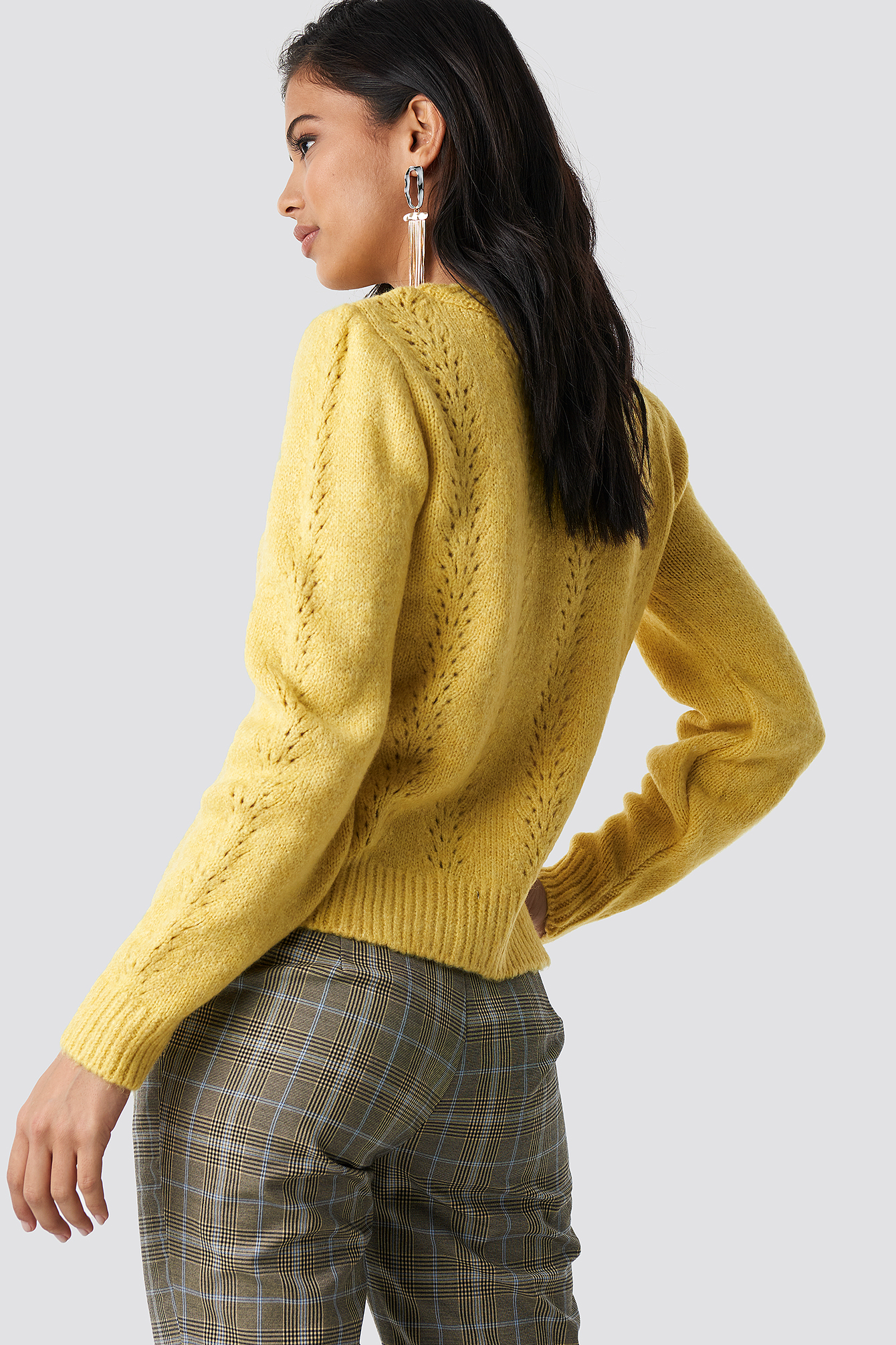 Openwork Detailed Knitted Sweater NA-KD.COM