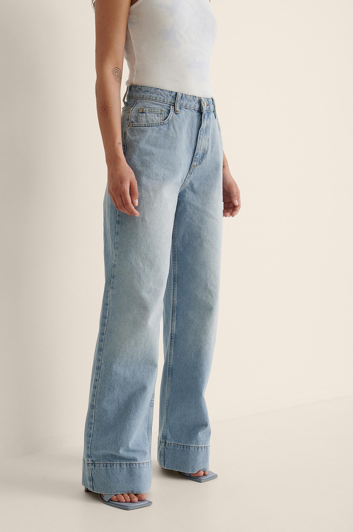 Trendyol Økologiske Højtaljede Jeans - Blue
