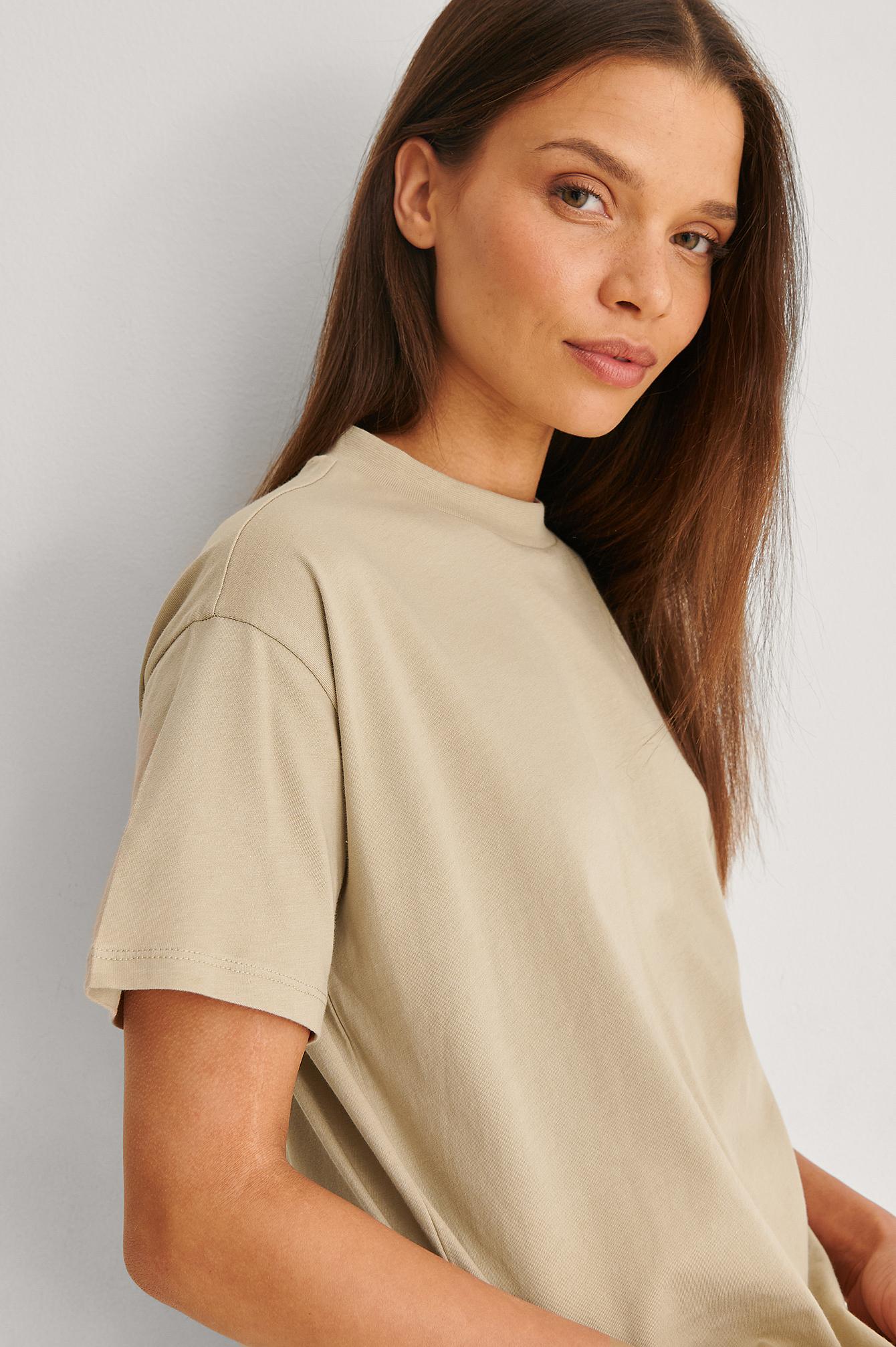 Trendyol Økologisk T-skjorte - Beige