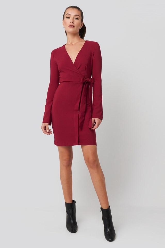 Overlap Mini Dress Trendyol
