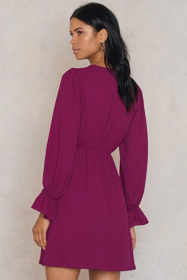 Overlap Tie Waist Dress NA-KD.COM