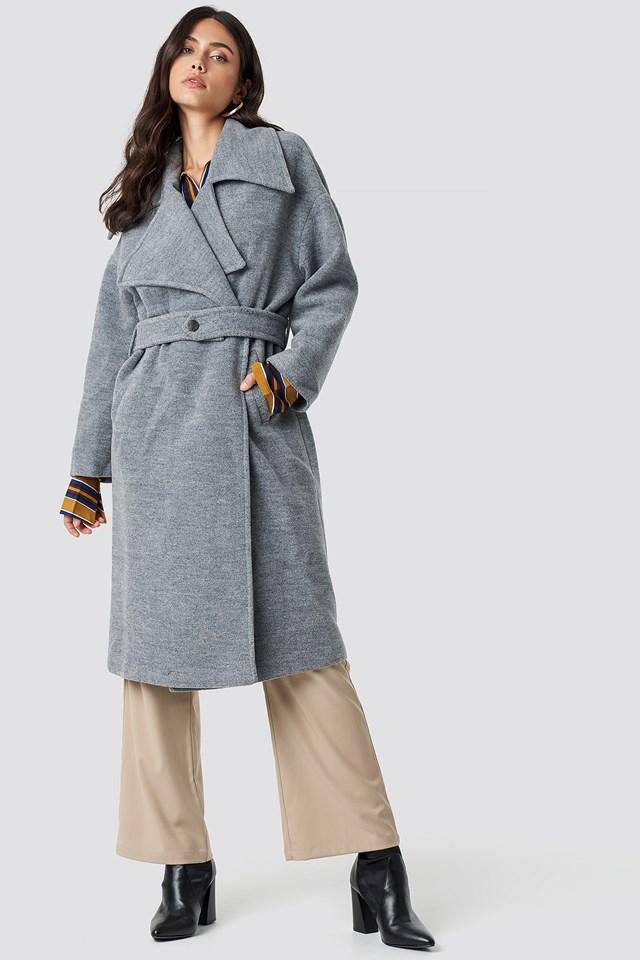 Płaszcz Oversized Archer Gray