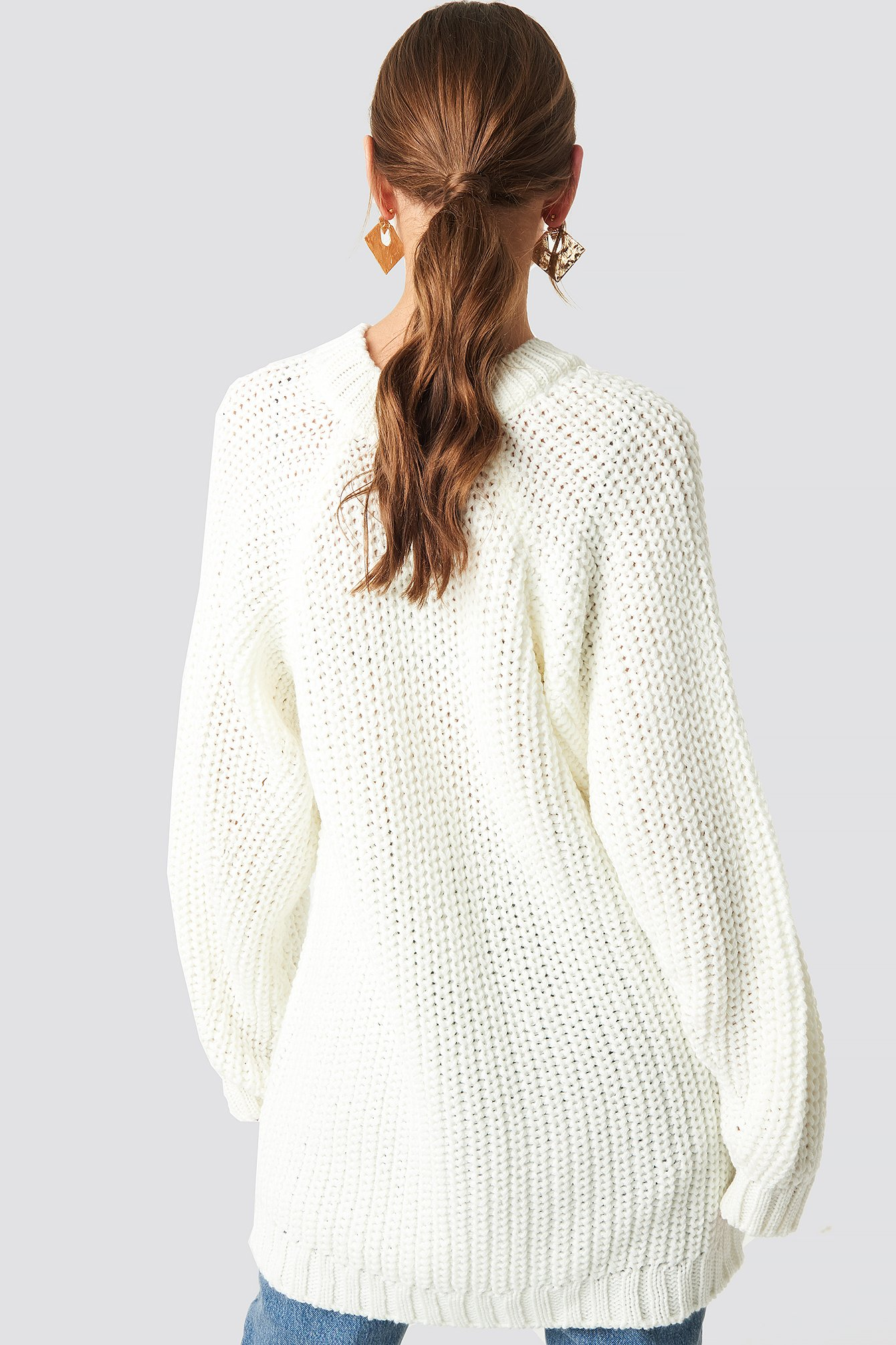 Oversized Knitted Sweater NA-KD.COM
