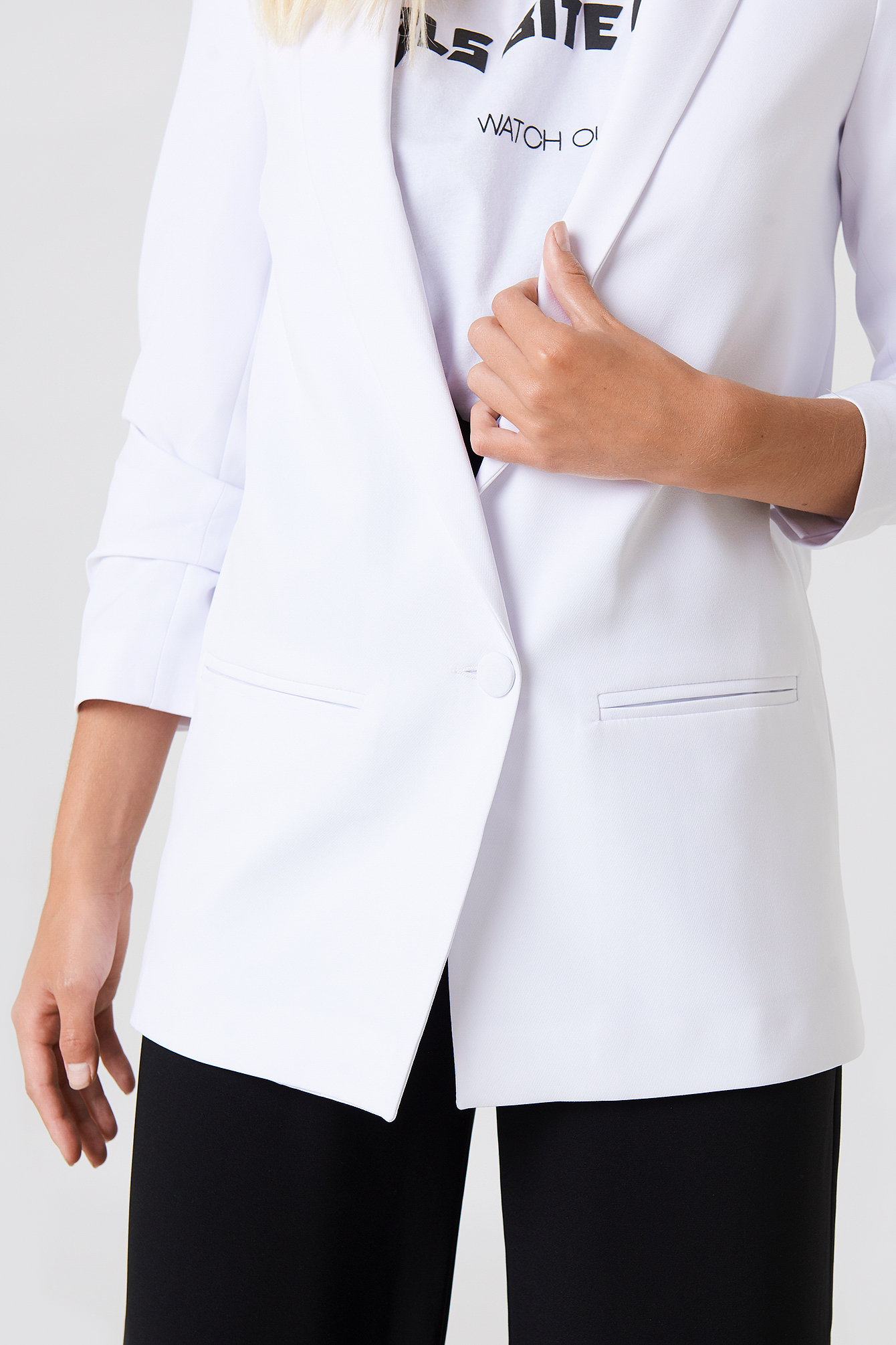 Oversized One Button Blazer NA-KD.COM