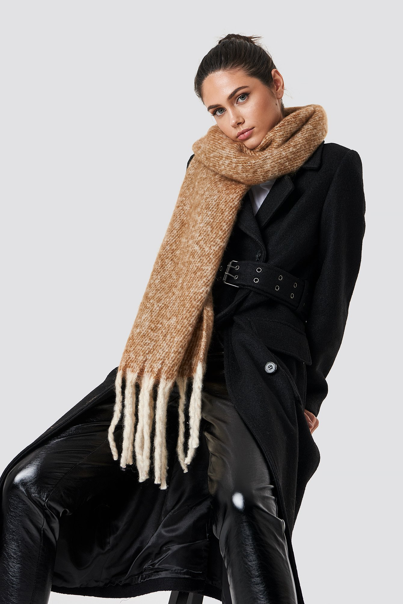 Oversized Knitted Scarf NA-KD.COM