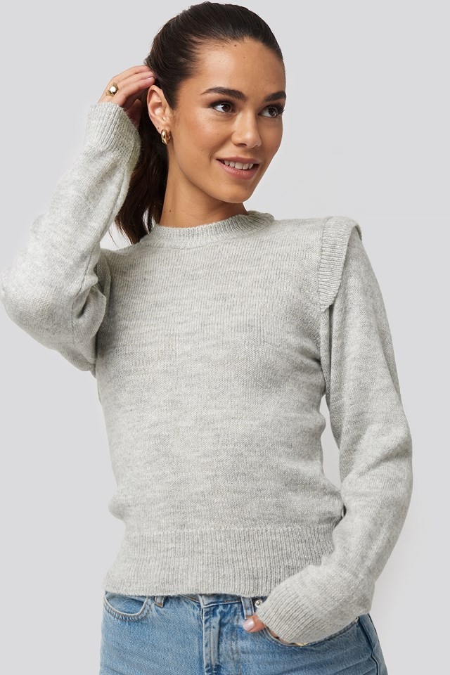 Padded Sweater Gray