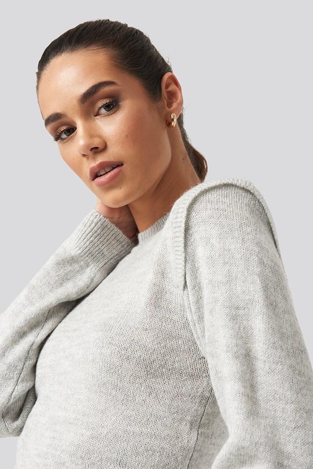 Padded Sweater Gray