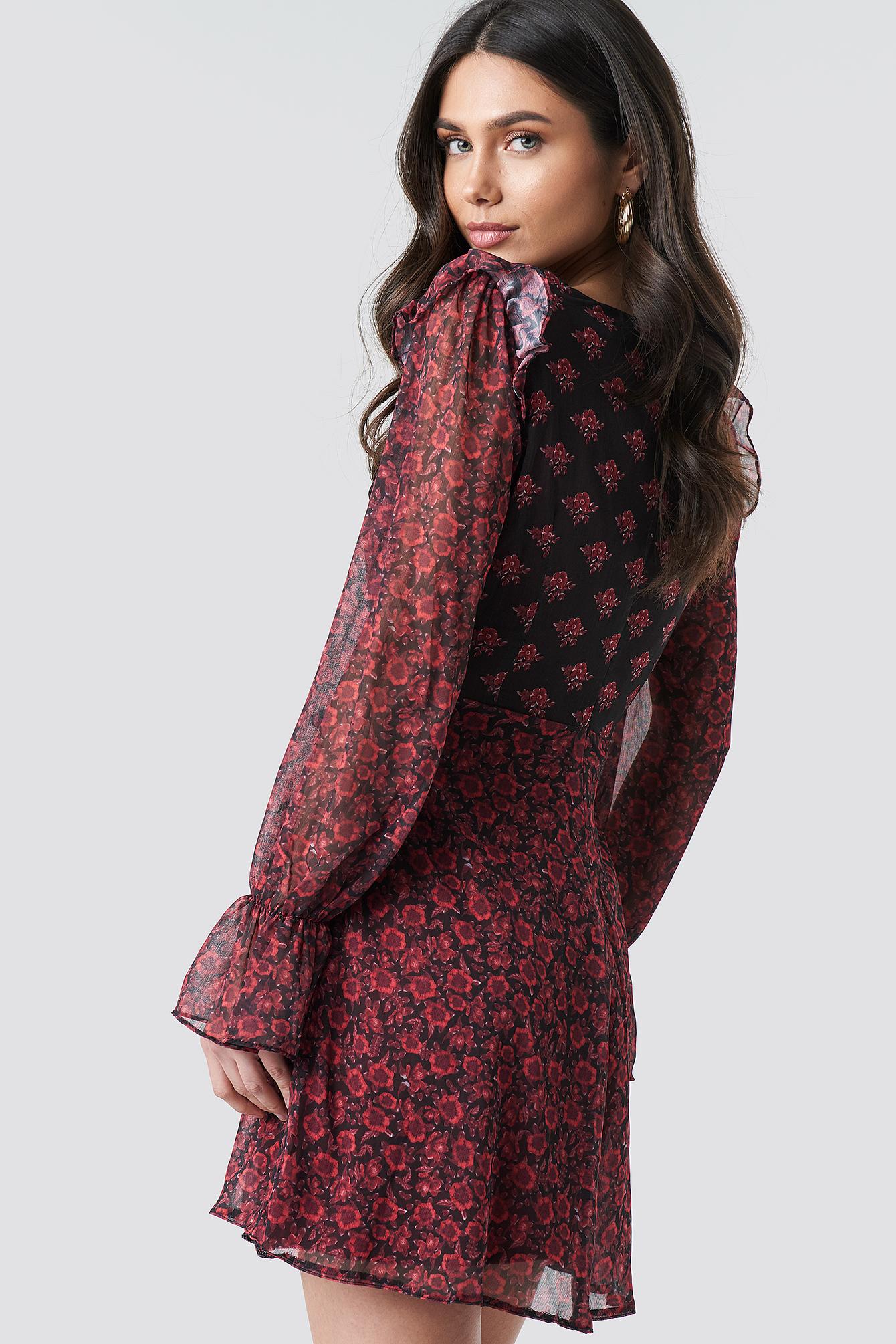 Patterned Mini Dress NA-KD.COM