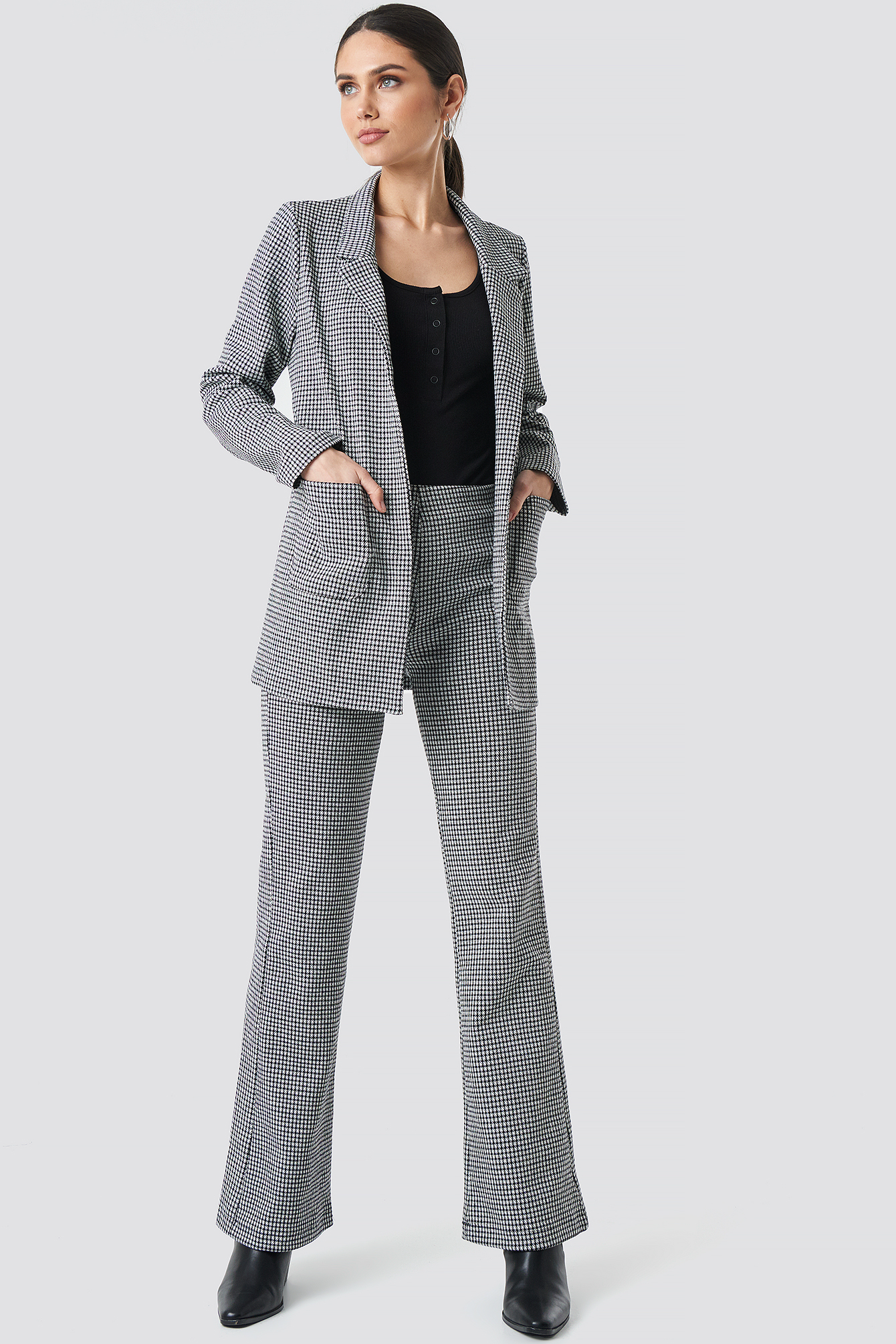 Patterned Blazer Jacket NA-KD.COM