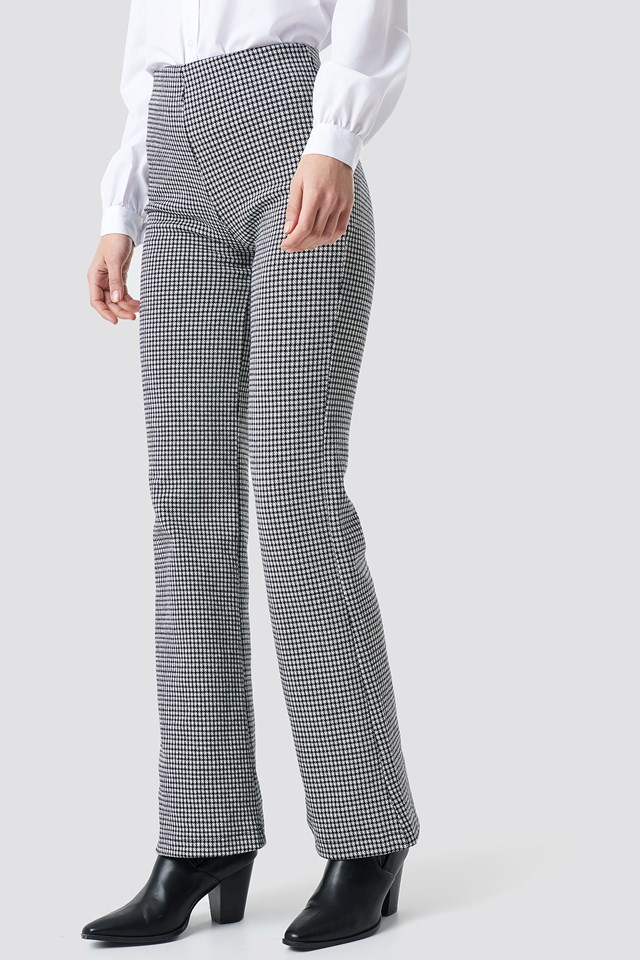 Patterned Trousers Gray