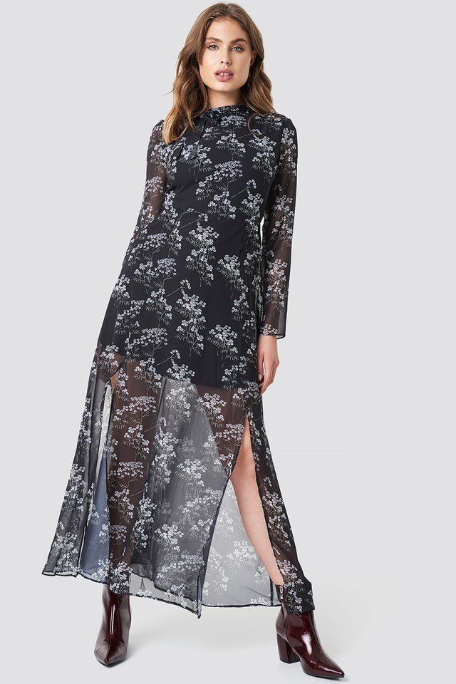 Patterned Long Dress NA-KD.COM