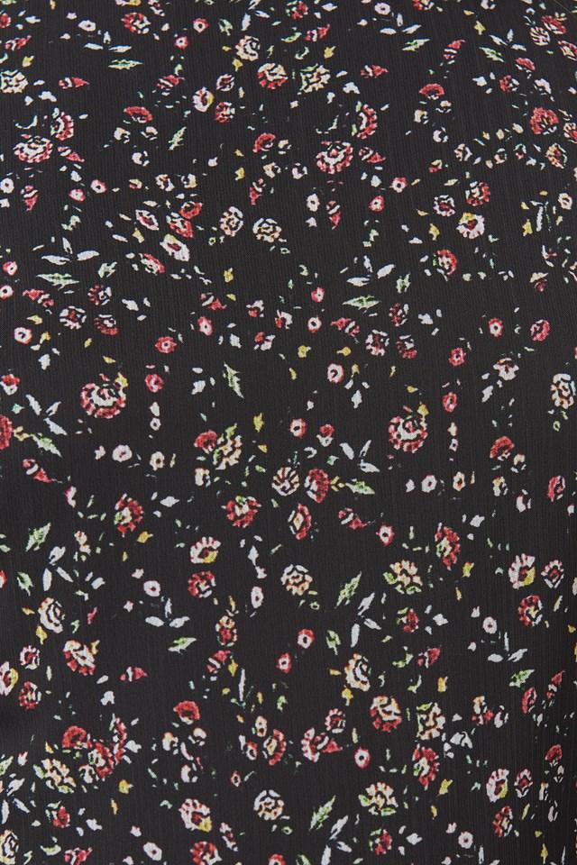 Patterned Mini Dress Black