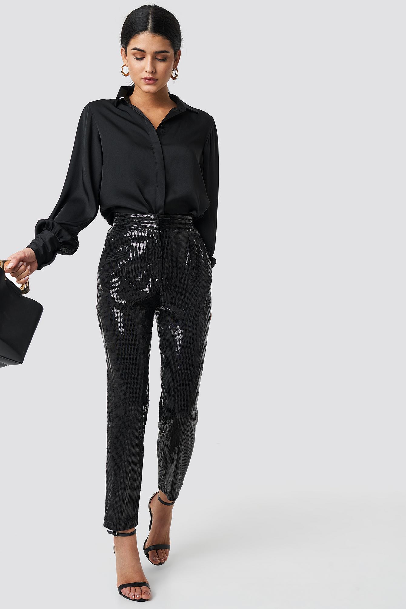 trendyol -  Payet Cropped Pants - Black