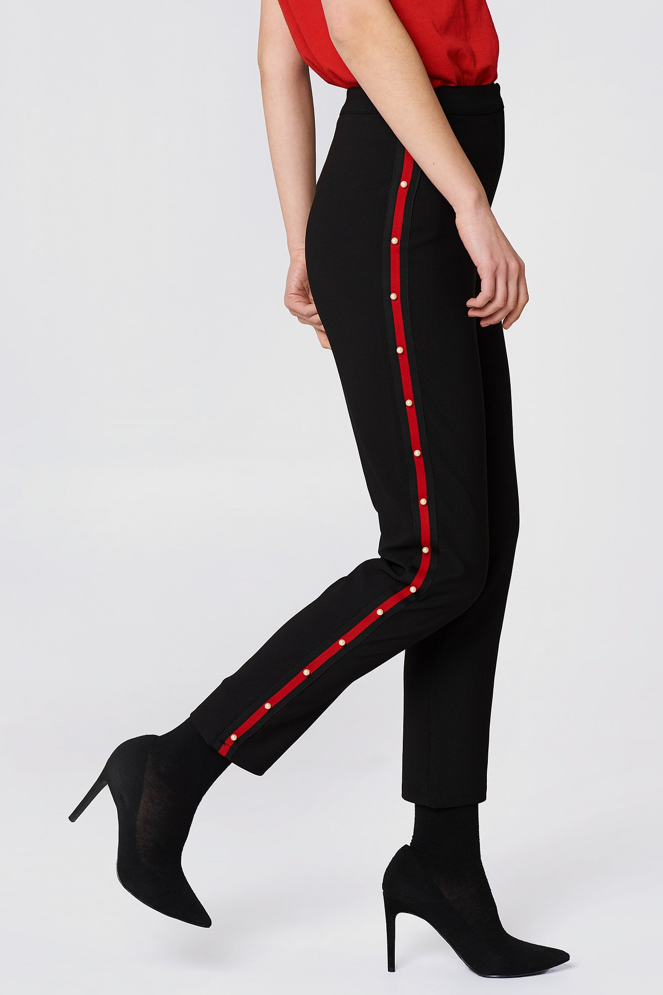 Pearl Detailed Pants NA-KD.COM
