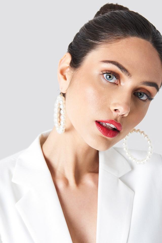 Pearl Earrings White