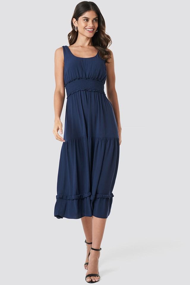 Petticoat Maxi Dress Navy