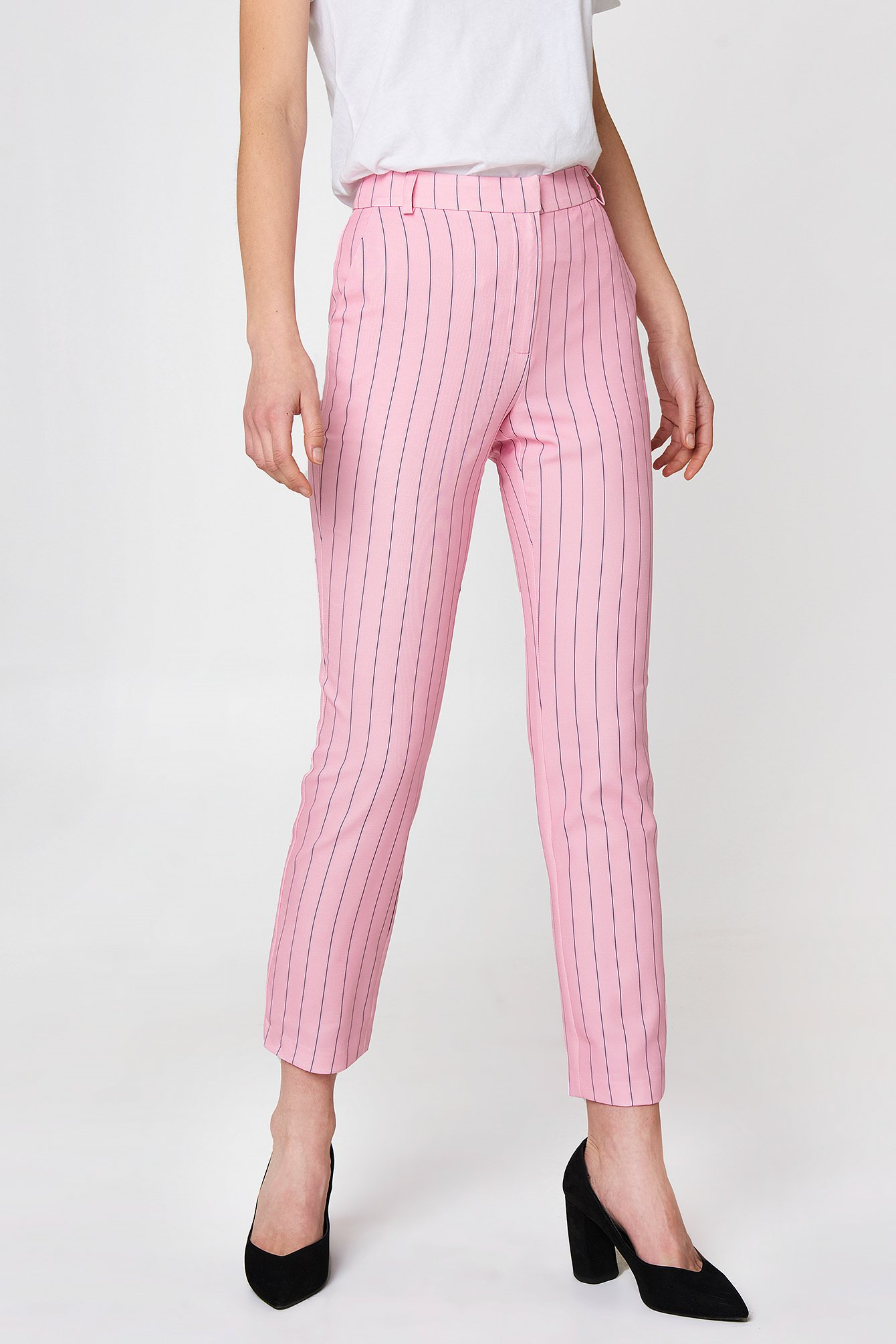 Pinstriped Straight Pants NA-KD.COM