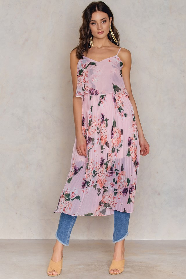 Pudra Pleated Dress Powder Pink