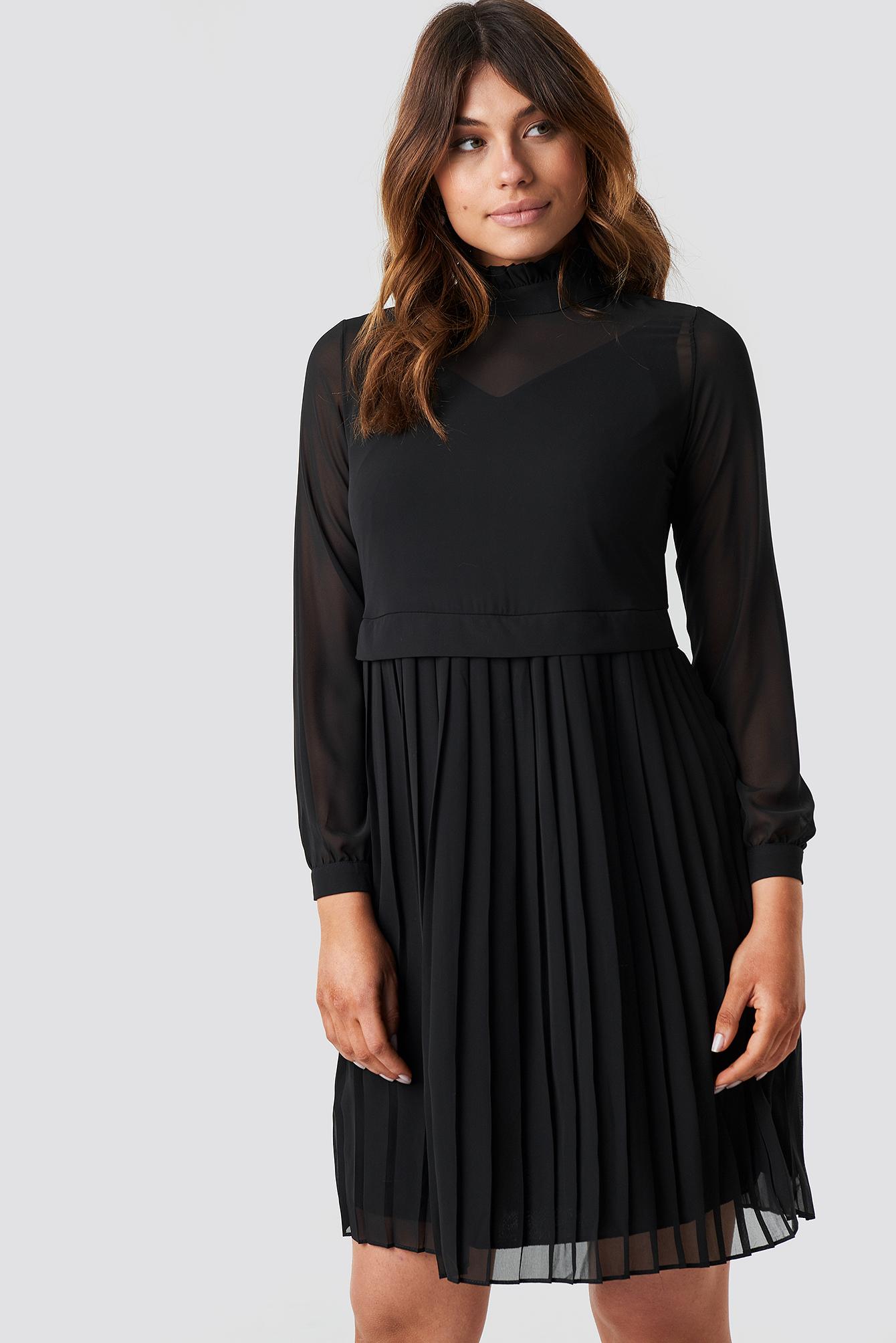 Pleated Midi Dress NA-KD.COM