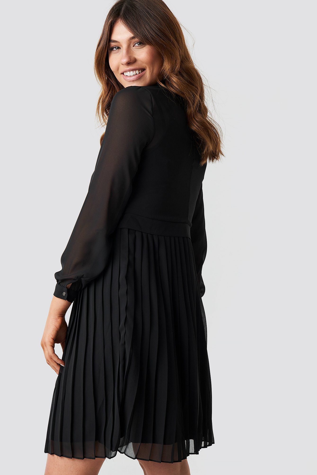 Pleated Midi Dress NA-KD.COM