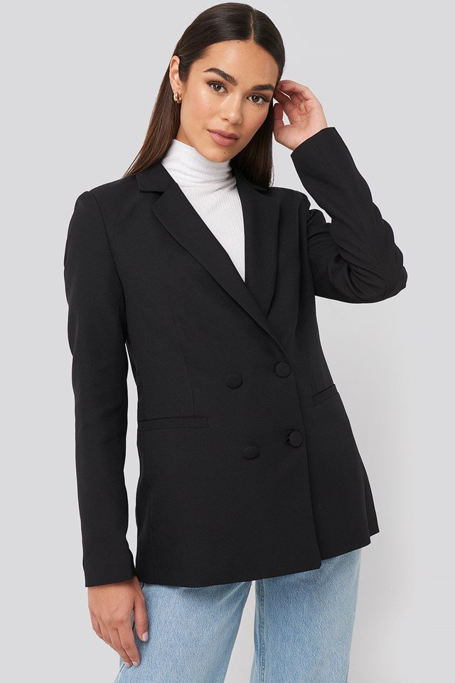 Pocket Detailed Blazer Black