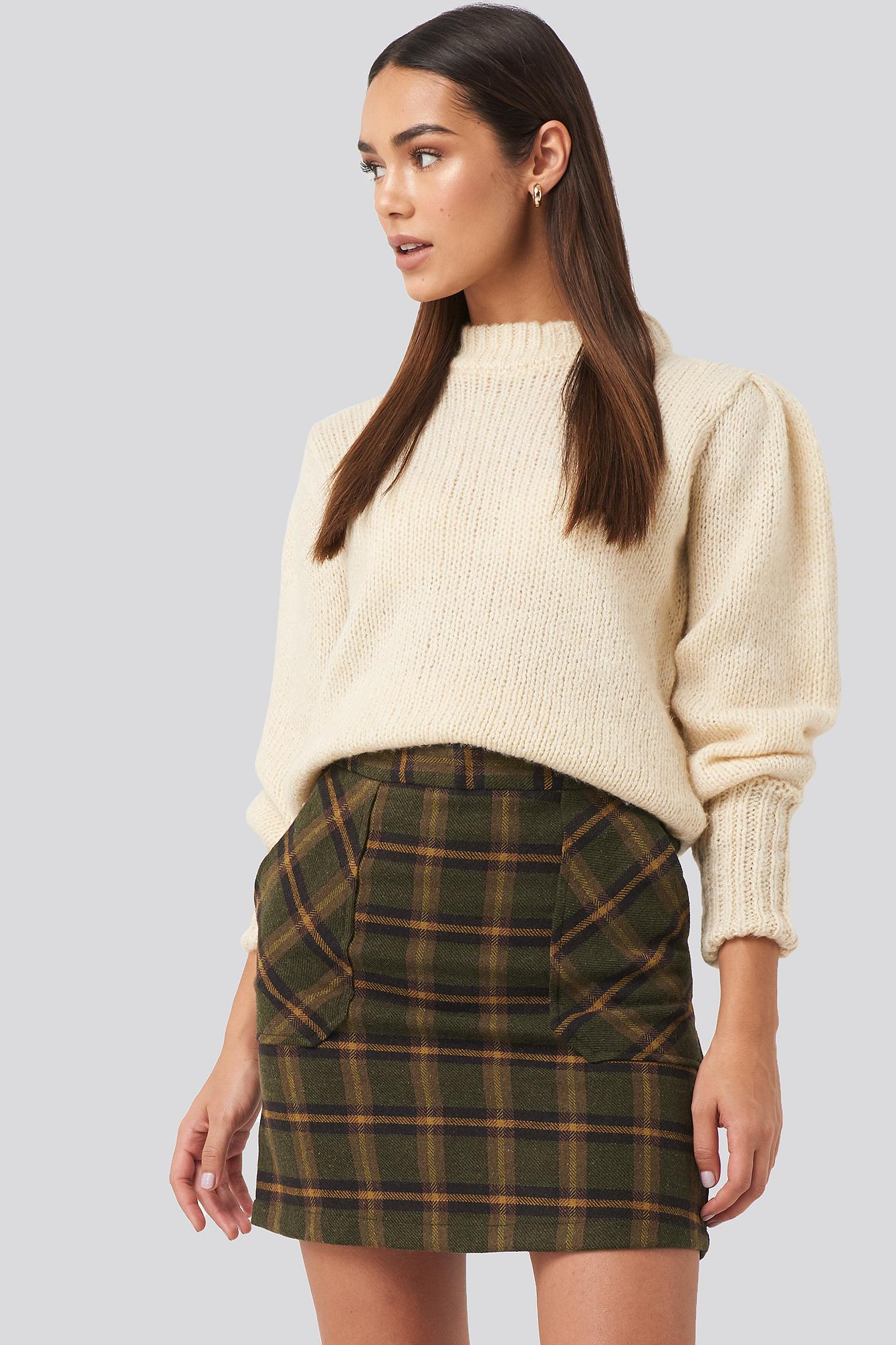 Trendyol Pocket Detailed Mini Skirt - Green