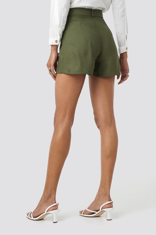Pocket Detailed Shorts Khaki