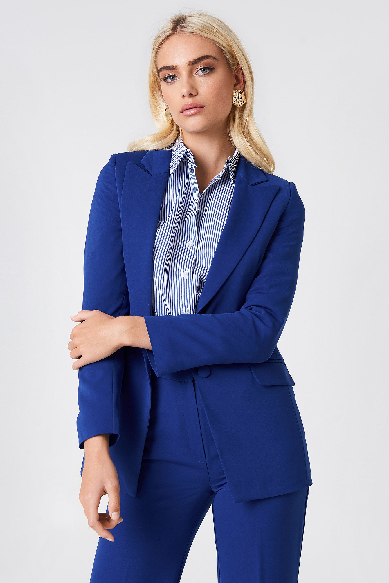 Royal Blue Pocketed Suit Jacket
