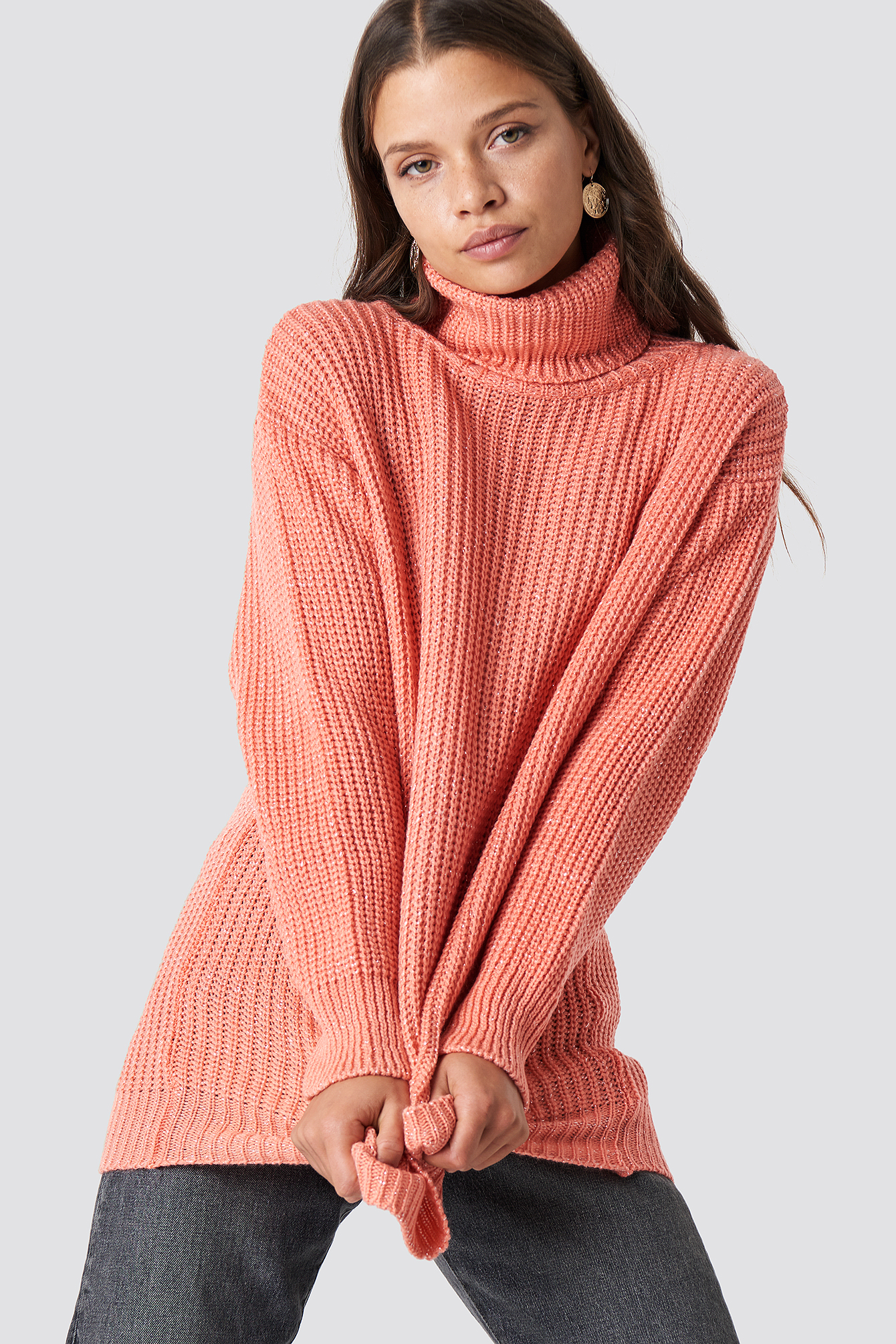 trendyol -  Polo Knitted Sweater - Orange