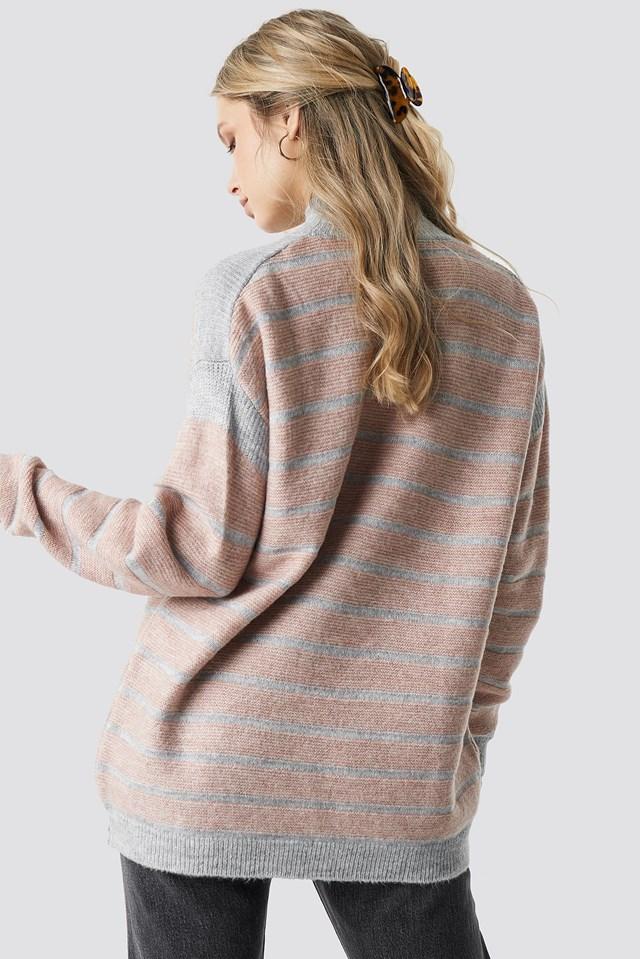 Polo Neck Striped Sweater NA-KD.COM