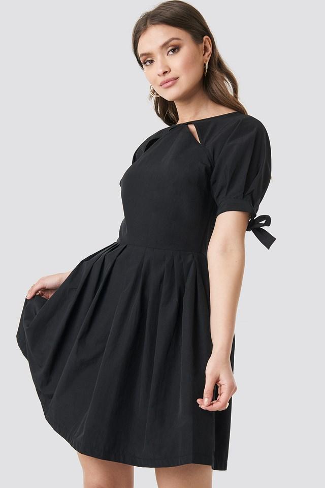 Poplin Dress Black