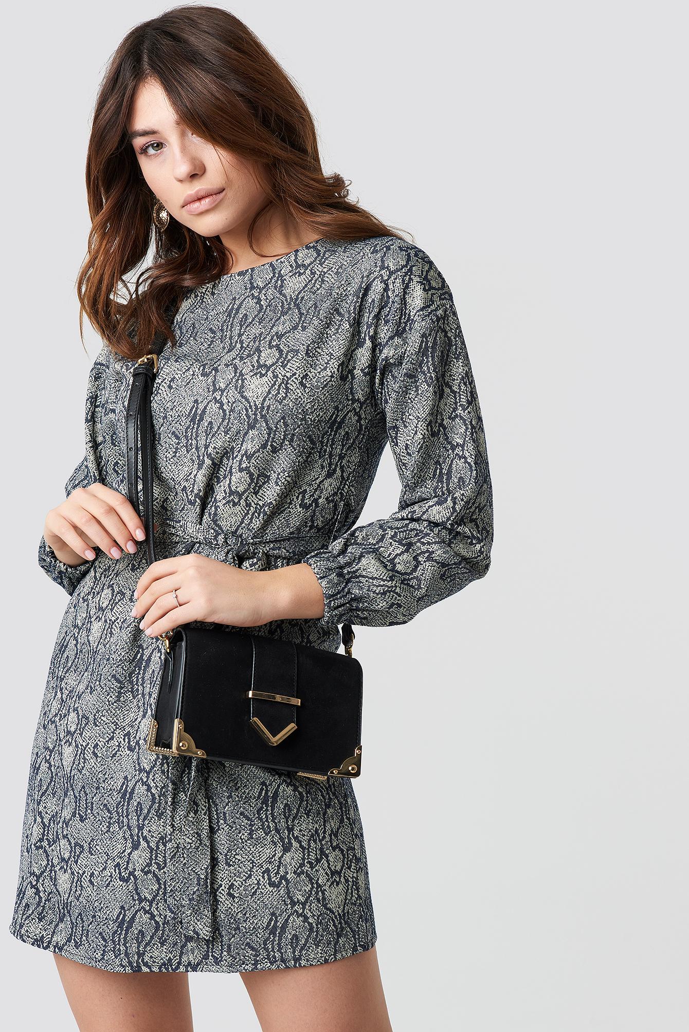 trendyol -  Printed Mini Dress - Multicolor
