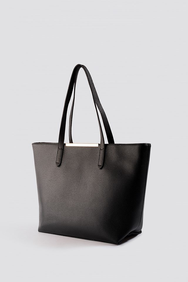 PU-Leather Shoulder Bag Black