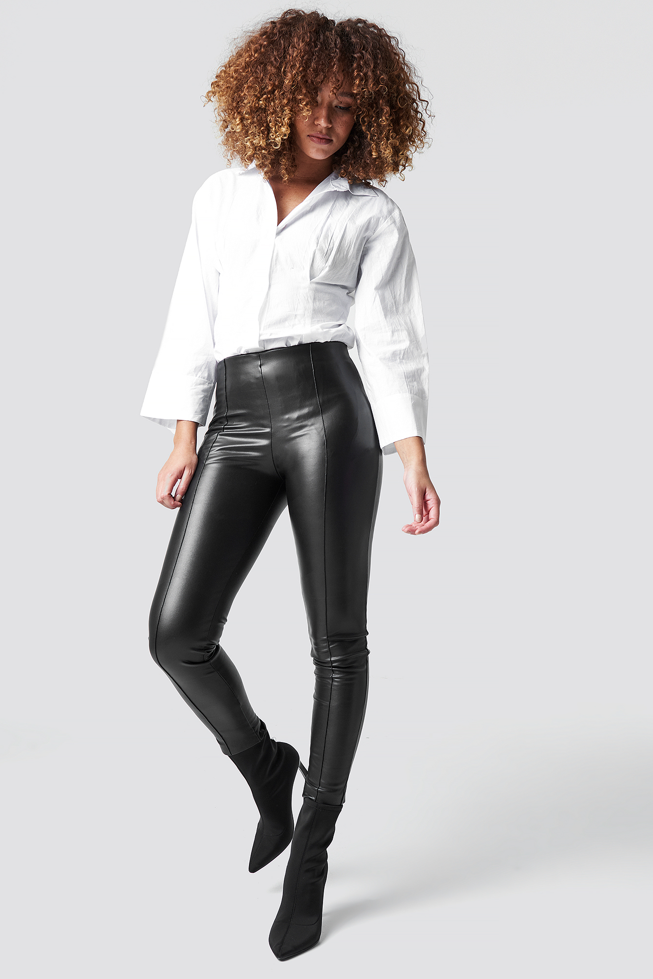 Pu Leather Pants NA-KD.COM