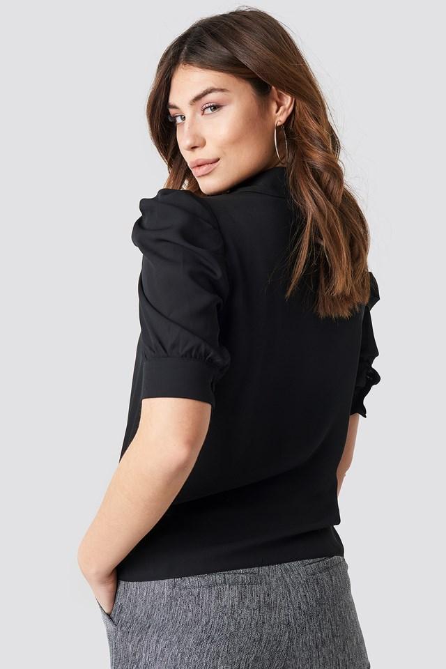 Puff Sleeve Blouse Black