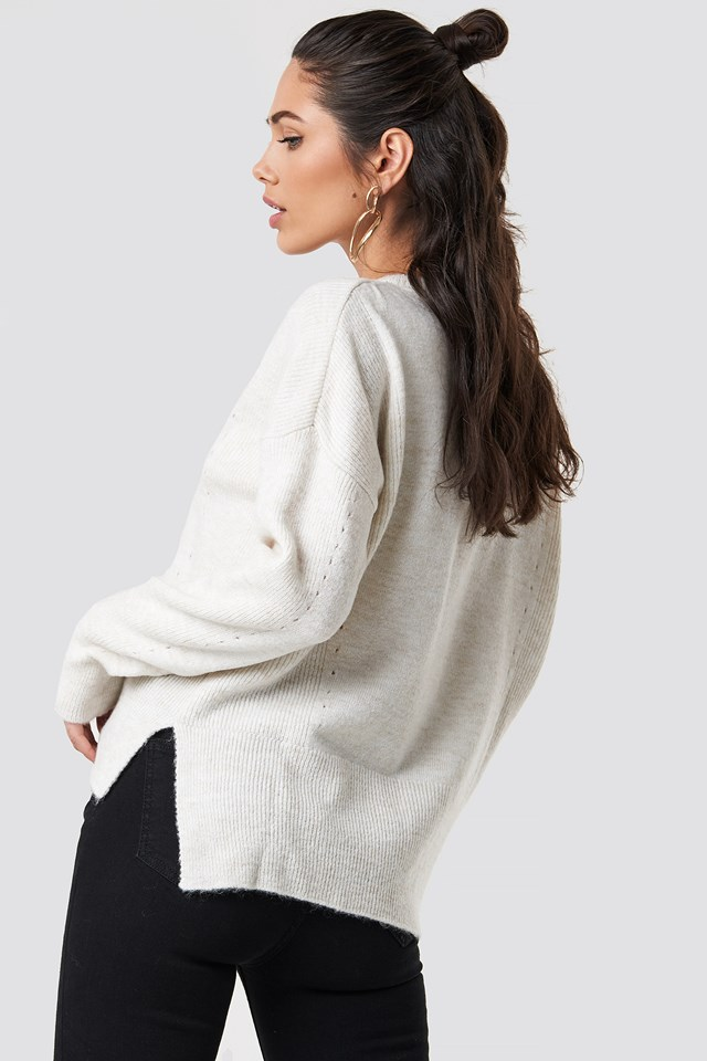 Punched Knitted Sweater NA-KD.COM