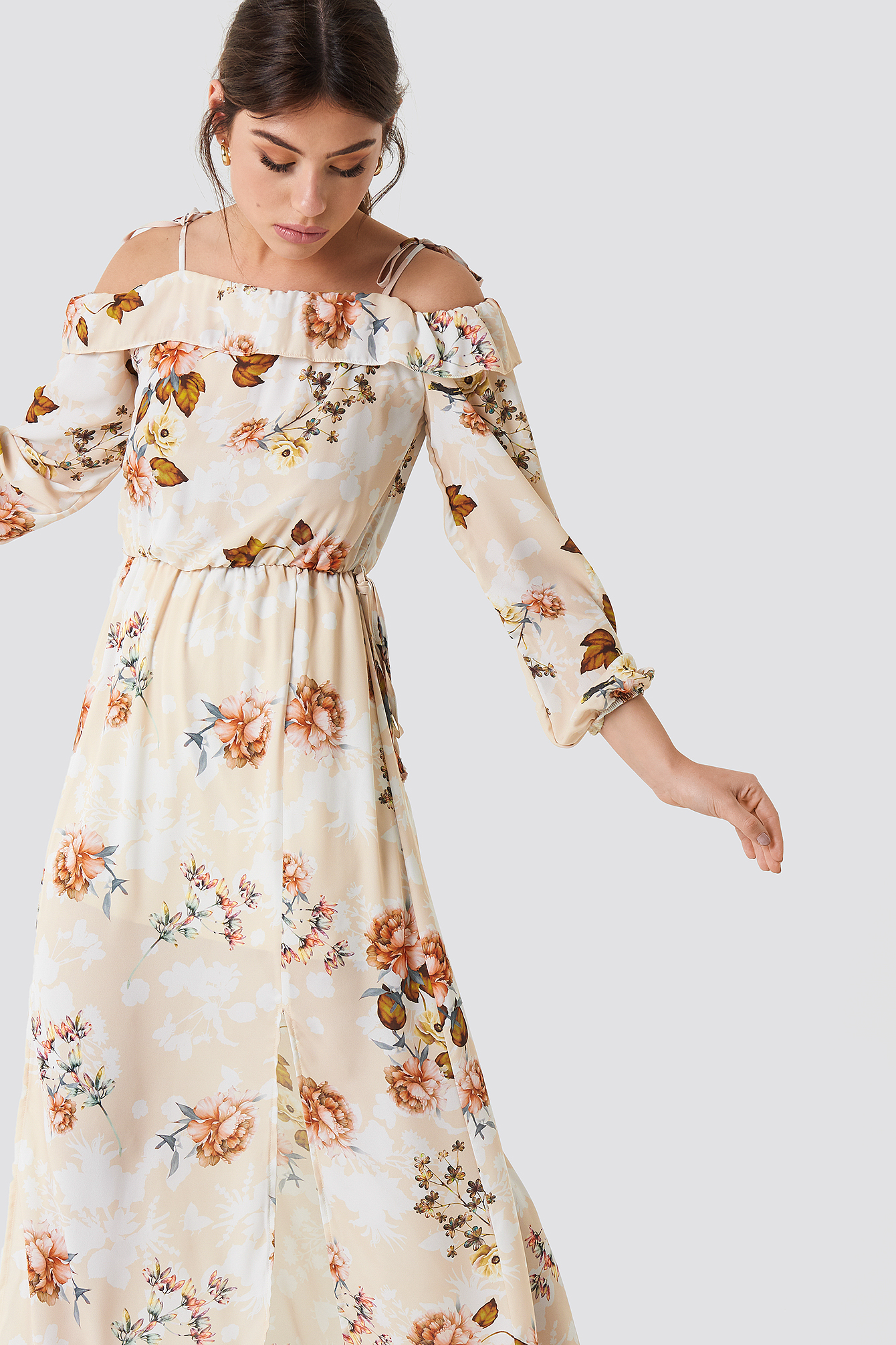 Relaxed Shoulder Maxi Dress NA-KD.COM