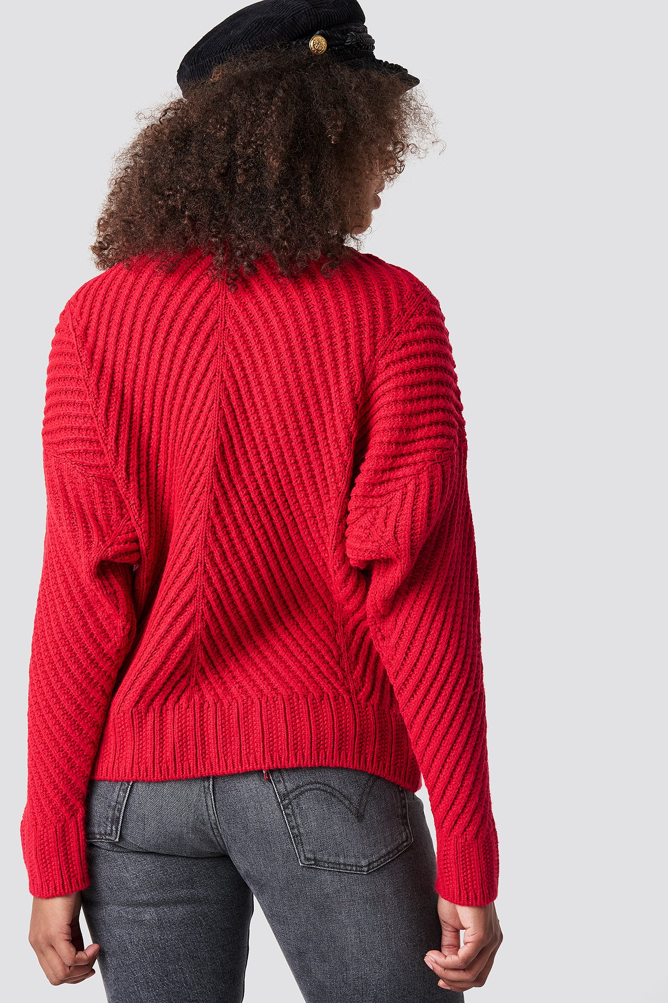 Rib Knitted High Neck Jumper NA-KD.COM
