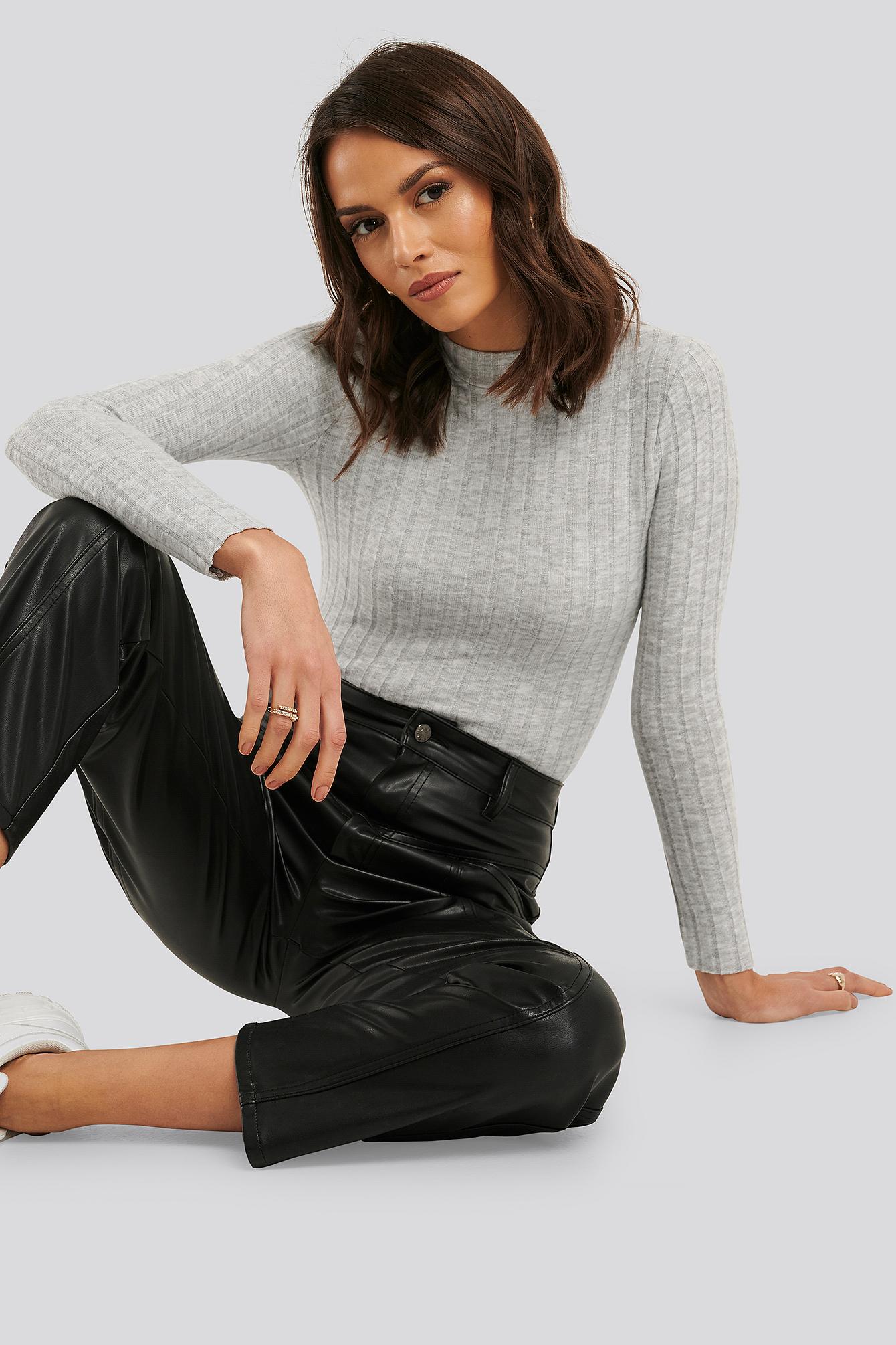 Trendyol Ribbad Polotröja - Grey