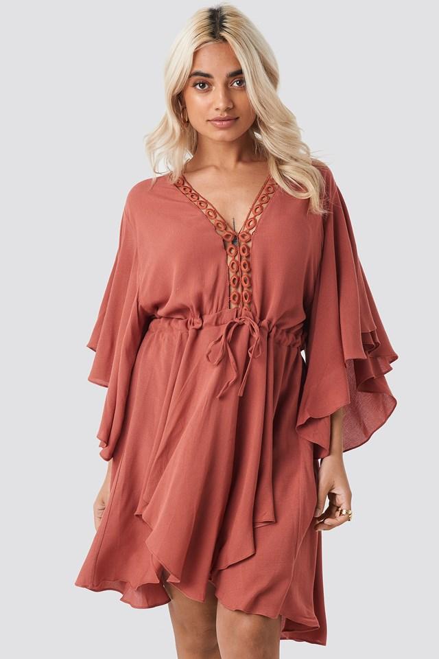 Ribbon Lace Detailed Dress Trendyol
