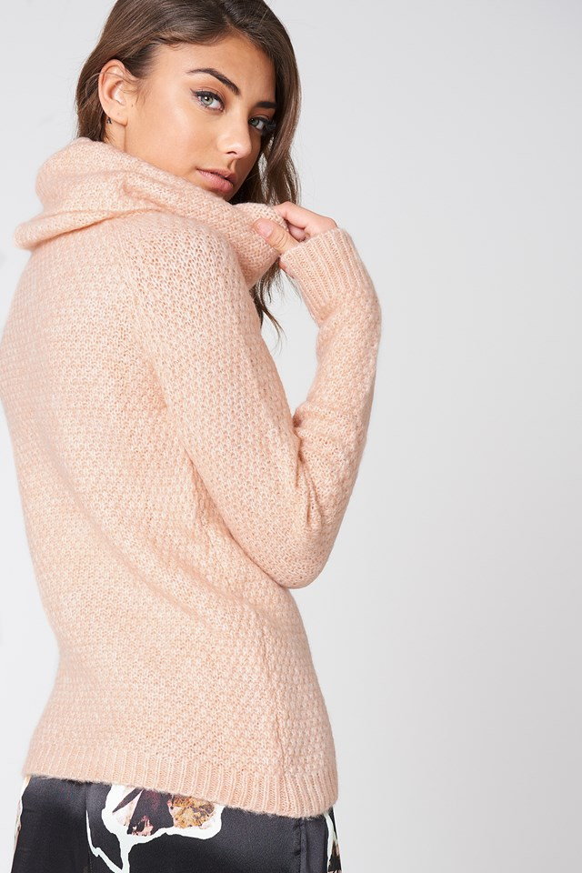 Rollneck Sweater Powder Pink