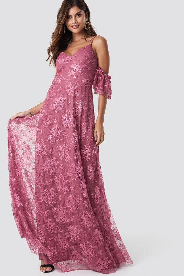 Sukienka maxi Rose Dry Dusty Rose