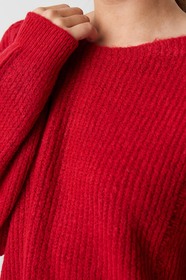 Round Neck Knitted Sweater NA-KD.COM