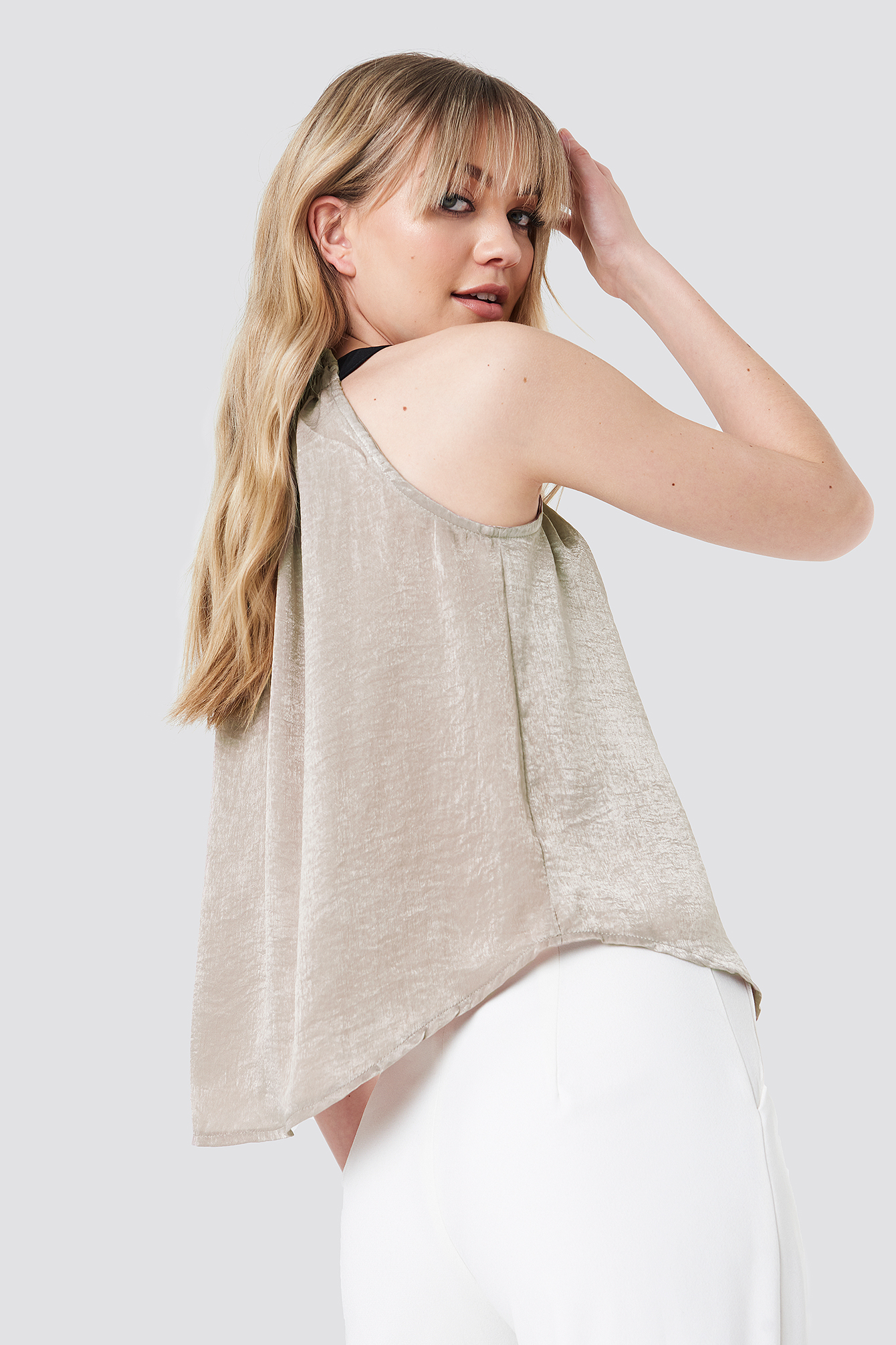Ruched Neck Top NA-KD.COM