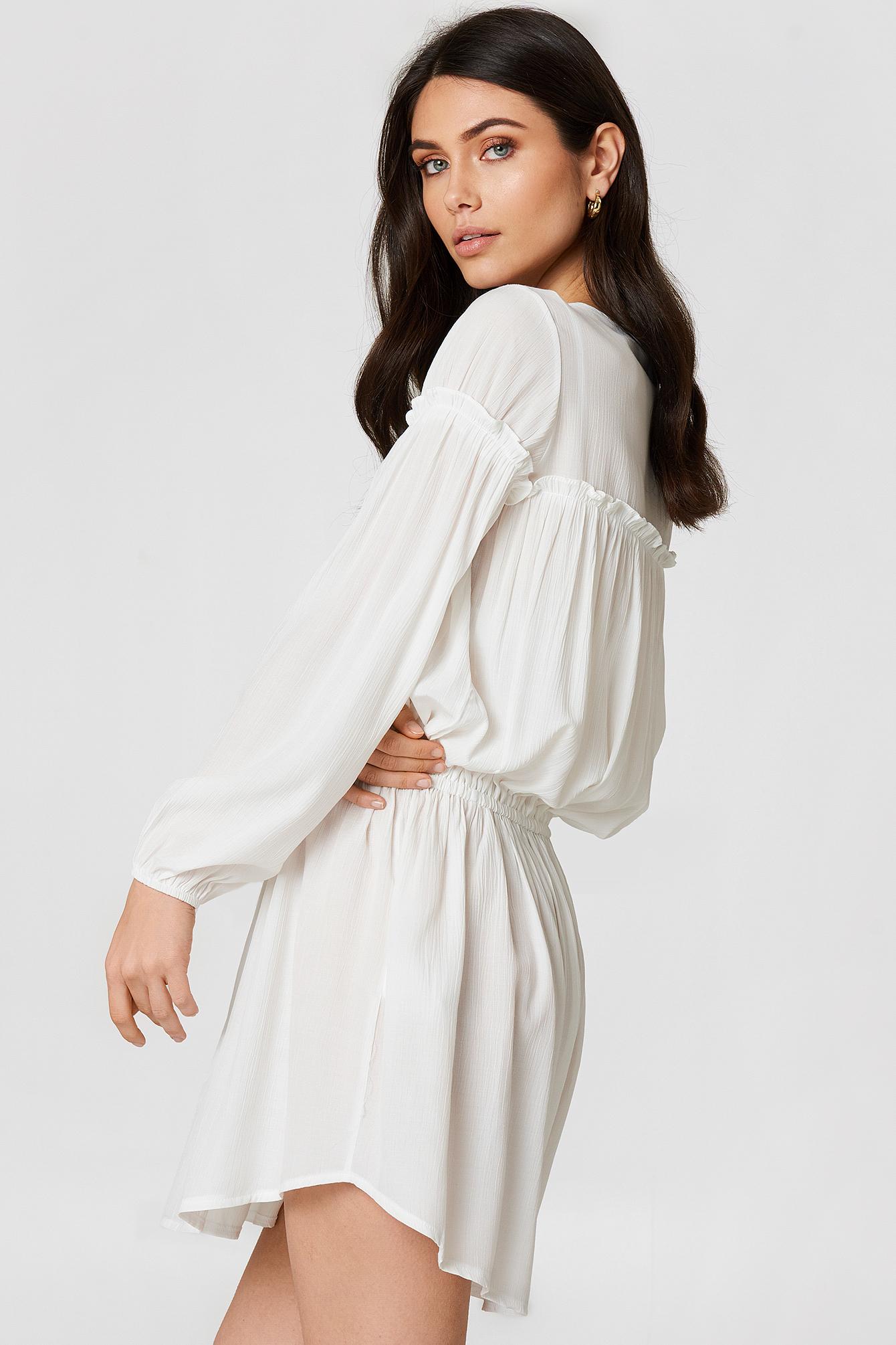 Ruched Waist Mini Dress NA-KD.COM