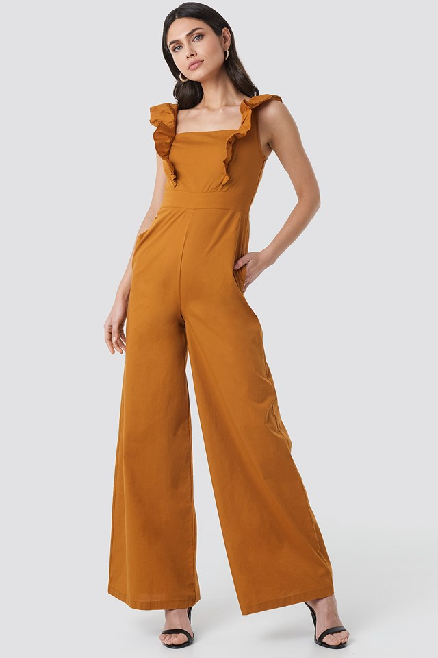 Ruffle Detail Jumpsuit Trendyol