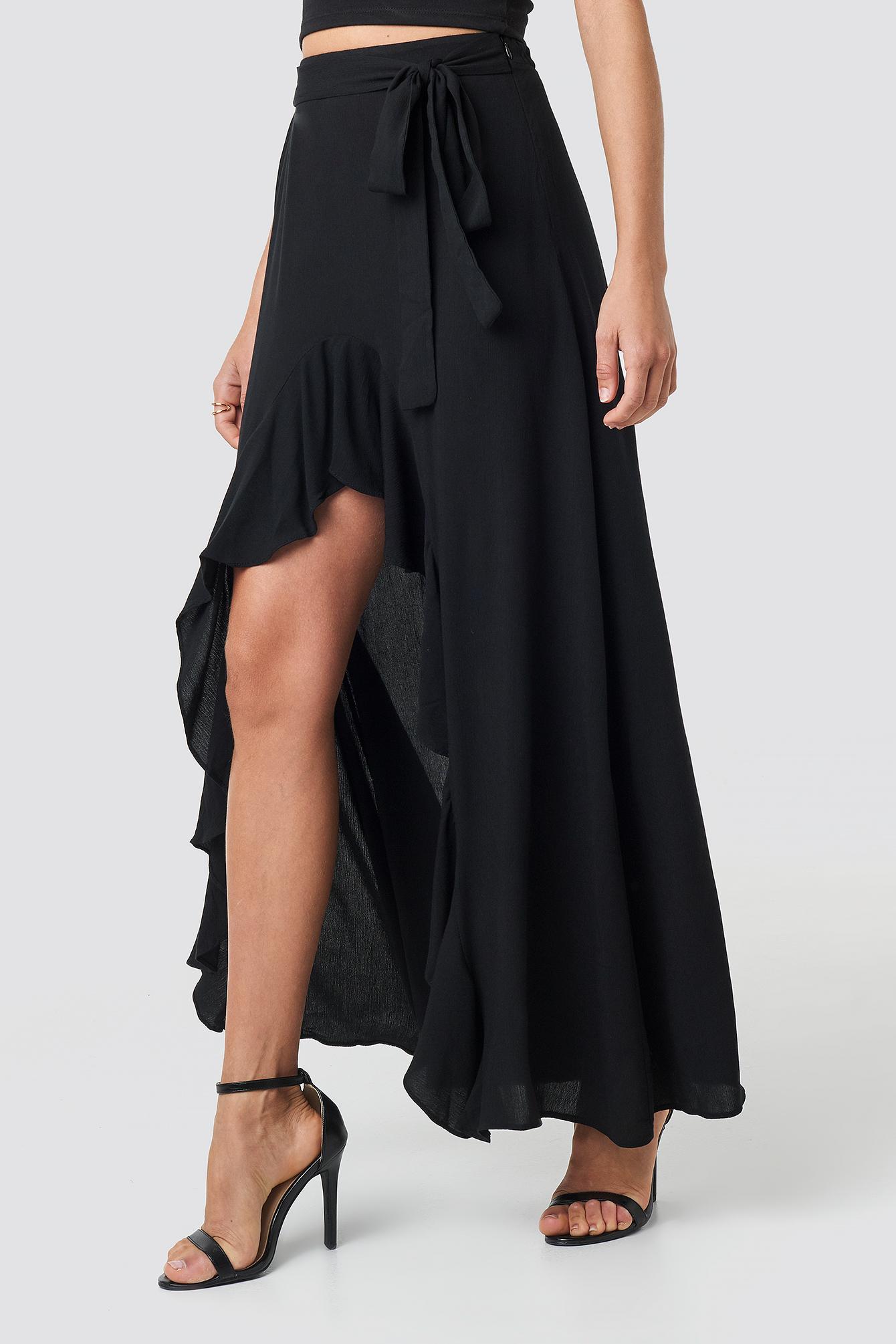 Ruffle Detail Maxi Skirt NA-KD.COM