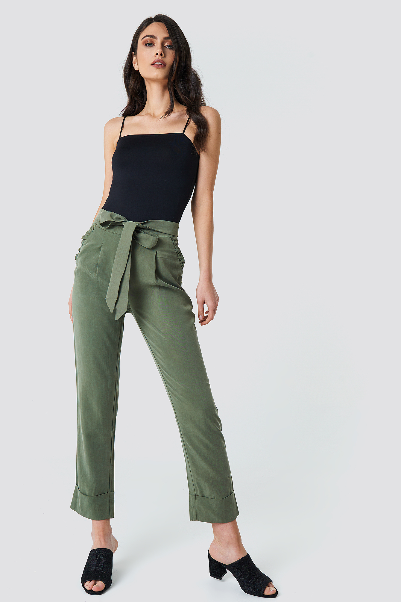 Ruffle Pocket Pants NA-KD.COM