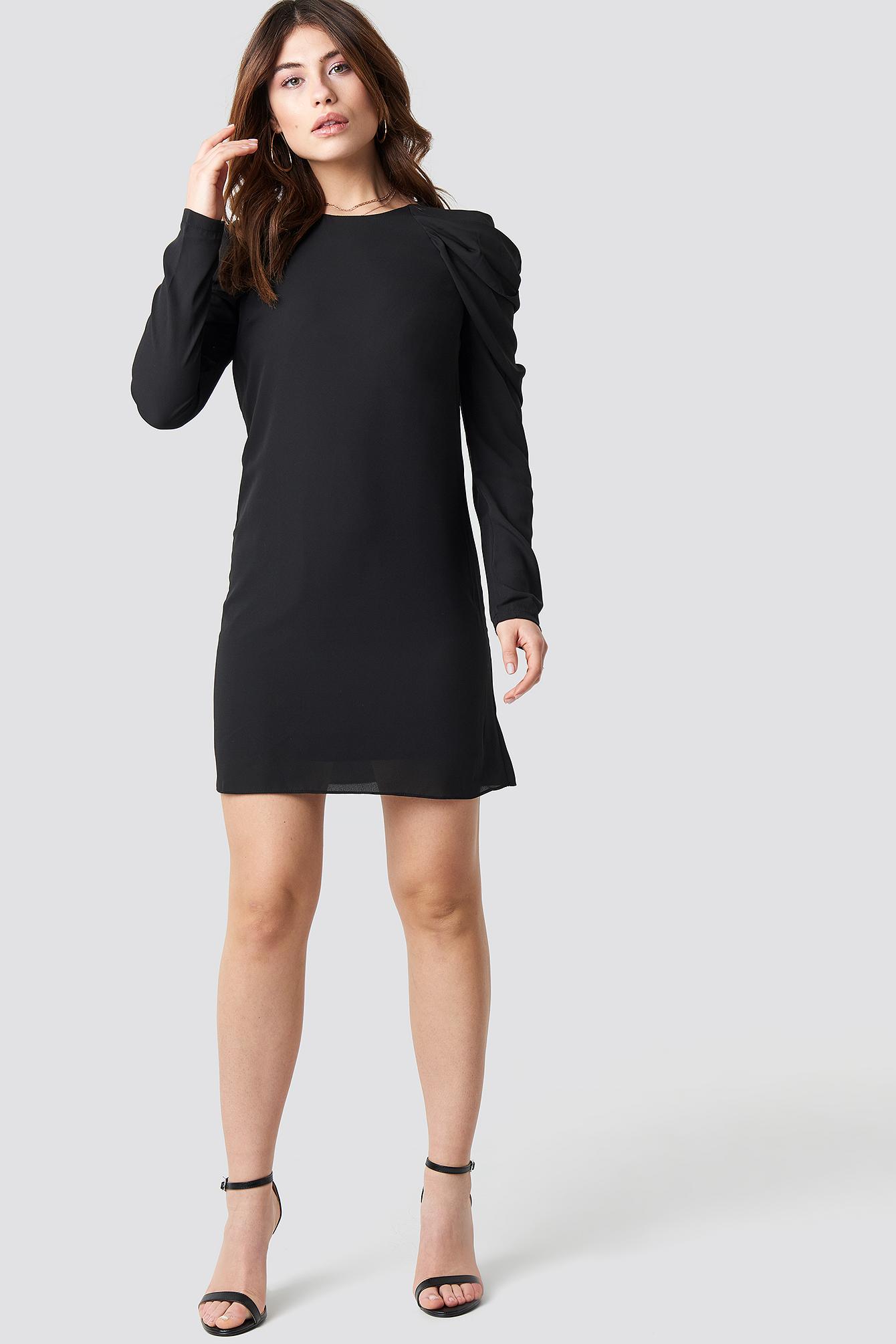 Ruffle Sleeve Mini Dress NA-KD.COM